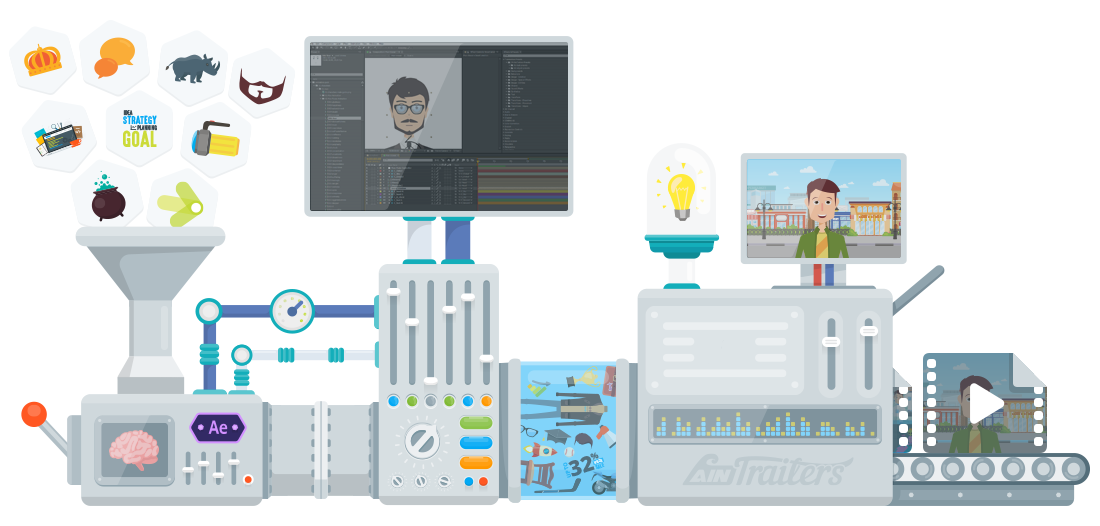 AinTrailers - Explainer Video Toolkit with Character Animation Creator